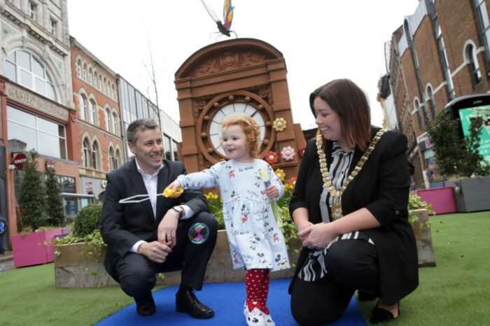 Heart of city centre transformed into children's playground