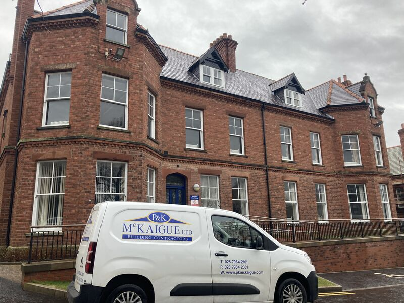 Work begins at the Temporary School of Medicine Building at University of Ulster Magee