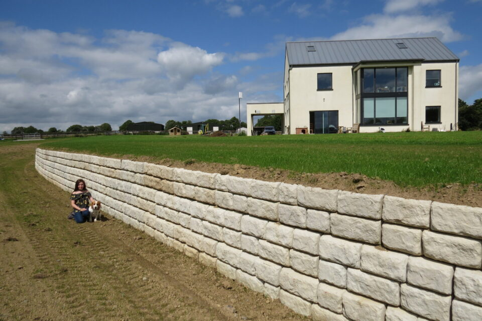 Redi-Rock Ha-ha wall adds the finishing touch to dream house