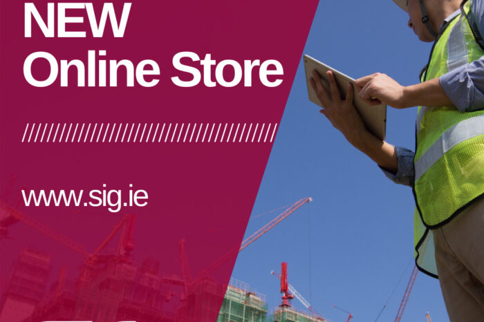 Industry innovators and Ireland's leading supplier of specialist construction products SIG, launches new online store.